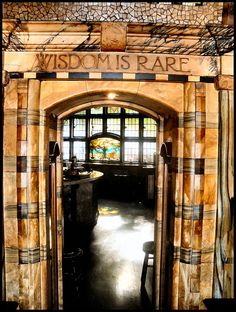 vmburkhardt: The Black Friar pub, London - Art Nouveau interior - Wisdom is Rare (by London City, London Pubs, British Pub, British Isles, Art Nouveau Interior, Pub Signs, Restaurant, London Calling, London England