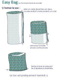 """Un tuto pour un sac facile à coudre : easy bag par """"Tambouille"""