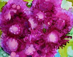 Floral Painting - Pink Bouquet by Beth Kluth