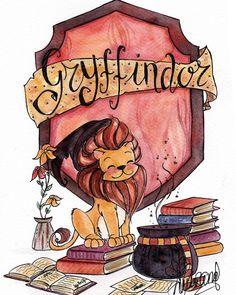 Gryffindor, the best house of Hogwarts Harry Potter World, Fanart Harry Potter, Images Harry Potter, Arte Do Harry Potter, Cute Harry Potter, Harry Potter Drawings, Yer A Wizard Harry, Harry Potter Wallpaper, Harry Potter Universal