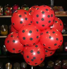 ladybug birthday balloons  miraculous party supllies by evescrafts