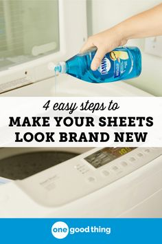 How To Remove Body Oil & Sweat Stains From Bed Sheets · One Good Thing by Jillee Bed sheets looking a bit dingy? Sweat or oil buildup could be to blame! Learn how to remove body oil and sweat stains from bed sheets here!