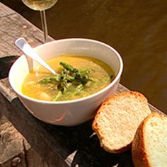 Try this Chicken and Asparagus Soup recipe by Chef James Reeson. This recipe is from the show Alive and Cooking.