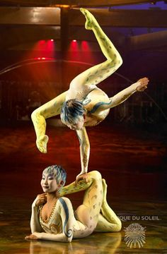 Got to see a free Cirque de Soleil performance tonight! Contortionists blow my mind.