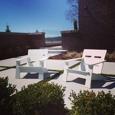 Loll Designs Cabrio Chairs Sunbathing On A Deck. These Modern Outdoor  Lounge Chairs Are Made