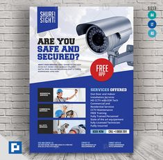 This CCTV Promotional Product Flyer Design has been develop to boost your marketing campaign. Flyer Design Templates, Psd Templates, Promo Flyer, Cctv Surveillance, Camera Shop, Marketing Opportunities, Makeup Eye Looks, Service Design, Web Design