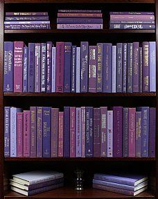 """Purple Passion"" - Books by the Foot - love it, I can order books by color!"