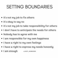 setting boundaries is self respect, and a self love practice. when you set boundaries, your confidence may grow, your throne may expand… respect Quotes To Live By, Me Quotes, Motivational Quotes, Inspirational Quotes, Qoutes, Note To Self, Self Love, Under Your Spell, Stephen Covey