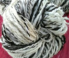 Hand spun Jacob sheep wool yarn by RebeccasWool on Etsy Jacob Sheep, Sheep Wool, Hand Spinning, Knitting Needles, Wool Yarn, Colours, Pictures, Etsy, Spinning