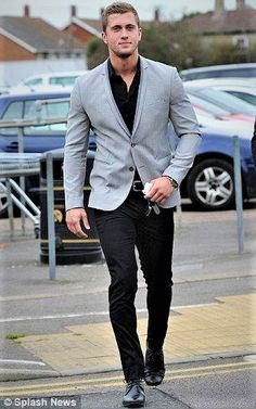 a8caebb28f210 23 Best Gray Blazer Men images | Man style, Manish outfits, Men wear