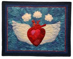 Heart with Wings by Anne Turner | Anne's Quilts