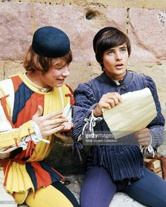 English actors Roy Holder (left), as Peter, and Leonard Whiting as Romeo in 'Romeo and Juliet', directed by Franco Zeffirelli, 1968.