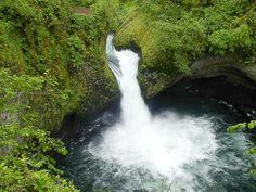 Punchbowl Falls, Eagle Creek Trail near Hood River, OR