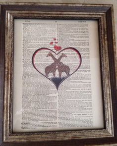 Vintage Dictionary Art Great for Valentines by DesignPerspective, $7.99