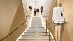 Nulty - MATCHESFASHION.COM, London - Luxury Fashion Retail Staircase Low Level Uplighting | Winner Retail Week Interiors Awards, SBID Awards 2014, Finalist FX Awards, Lux Awards 2014, Lighting Design Awards 2015