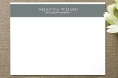 Shauna Stripe Business Stationery Cards by Ashley Sullivan at minted.com