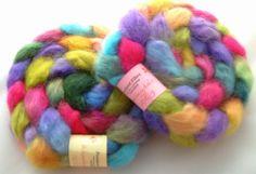 Roving Wensleydale Wool Top 100g two available by fondantfibre, £8.00
