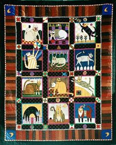 Vintage Cats Quilt - WANT HD: Don't delay ~ buy the pattern ~ searching for just the right fabrics takes time.  Update: Pattern only available.