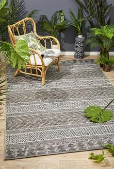 Courtyard Deck Natural Rug Material: Polypropylene Pile Height: Style: Modern Construction: Power Loomed Origin: Made in Belgium Indoor Outdoor Rugs, Outdoor Living, Transitional Rugs, Black Rug, Building A Deck, Rug Material, Natural Rug, Reno, Easy Home Decor