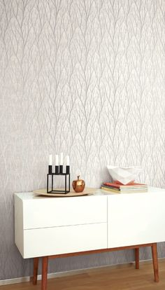 Trees in Gray Mini Prints Collection, Wallquest