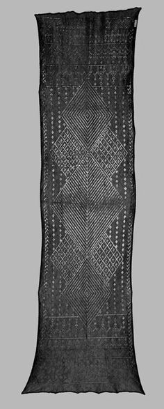 Egyptian Pounded Metal Shawls | These metal-worked veils were originally worn by women from regions of Egypt, Syria, and Lebanon. Traditional women's dresses of net or cloth were also embellished in this manner. | the link provides a detailed look at the fabric