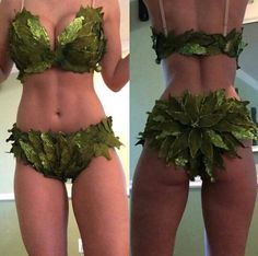 Poison ivy costume  Adam and Eve costume  DIY Halloween idea  DIY sexy poison ivy