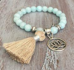 Lotus Flower Charm Bracelet Yoga Bracelet Charm Bracelet