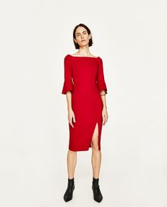 ZARA - WOMAN - SHIFT DRESS WITH TRUMPET SLEEVES