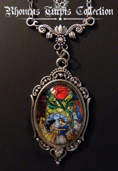 Disney Beauty  the Beast Stained Glass Cameo by RhoncusTurpis, $18.00  I neeeeeed this!!!!