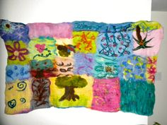 Wet Felted Wall Hanging:  A great group project