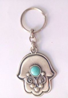 Keychain Hamsa Israel Jerusalem - Key Ring Judaica