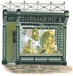 Submarine Shop - Eric Ravilious