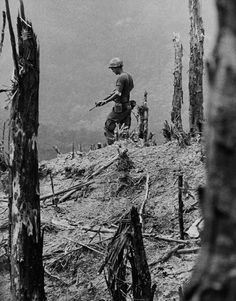 A Lone Soldier, Vietnam by David Hume Kennerly, winner of the 1972 Pulitzer Prize. ~ Vietnam War