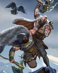 Spartan Men, Thor, Tiger Species, Kratos God Of War, Vegvisir, Batman Vs Superman, Real Hero, Marvel X, Famous Art