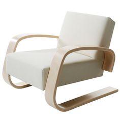 Alvar Aalto Furniture Chair By Alvar Aalto From Artek Hive Modern Furniture Alvar Aalto Armchair 400 Tank Chair Hivemoderncom Alvar Aalto, Helsingborg, Modern Furniture, Furniture Design, White Furniture, Modern Chairs, Wooden Armchair, White Armchair, Mid Century Modern Armchair