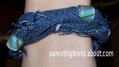 Jean Bracelet Craft for Teens
