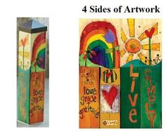 """Live Simply Small Outdoor Decoration Art Pole - Size: 20"""""""" x 4"""""""" x 4"""""""""""