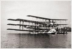 "caproni | the Caproni Ca.60 ""Noviplano""""a nine-wing flying boat intended ..."