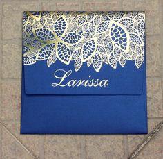 #invitation  #convite   #gold                      #dourado          #15anos #girl #girly #teen #debut #  #ouro #renda #lance #relevoseco #altorelevo #details #detalhes #hotstamping #blue #azul #flowers