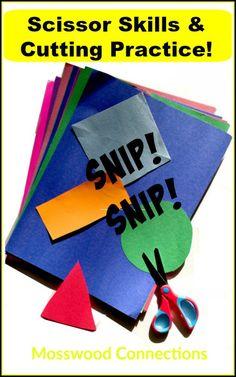 Scissor Skills & Cutting Practice! Activities that build fine motor and scissor skills.