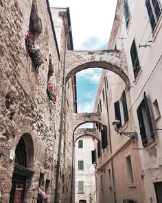"""alghero - Sardinia """"So in love with all these pretty streets ✨ Brooklyn Bridge, Journey, Explore, Street, Sardinia Italy, Places, Summer, Cherries, Travel"""