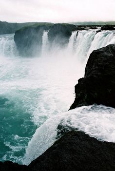 Godafoos Falls, Iceland - the waterfall of the gods