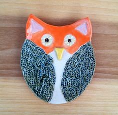 Owl Dish Trinket or Spoon Rest by artsylois on Etsy