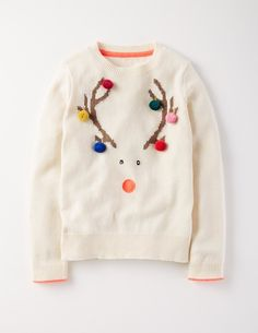 Christmas Sweater 91430 Clothing at Boden - Christmas jumpers - New Year Cute Christmas Jumpers, Kids Christmas Sweaters, Xmas Jumpers, Diy Ugly Christmas Sweater, Christmas Party Outfits, Christmas Fashion, Ugly Sweater, Xmas Sweaters, Xmas Shirts
