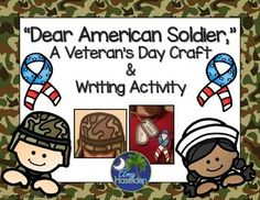 Veterans Day, Memorial Day, craft, headband, dog tags, ribbon, writing activity, elementary activity, primary activity, veteran's day program costume, fun stuff, speech therapyDo you need a super fun and easy craft that shows a patriotic side?  Do you also need a writing activity that you can mail to a recovering soldier?