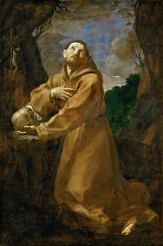 "Saint Francis in Ecstacy by Guido Reni, first quarter of the 17th century, Louvre Museum. The painting was offered by Camillo Pamphili to Louis XIV of France in 1665. Similar painting, most probably by Guido Reni, was described in the chapel of the Villa Regia Palace in Warsaw in Adam Jarzębski's ""Short Description of Warsaw"" from 1643 (1971-1976). #baroque #artinpl #ladislausivvasa Louis Xiv, St Francis, 17th Century, Baroque, Saints, Louvre, Museum, Warsaw, Painting"
