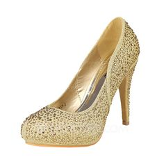 Wedding Shoes - $52.99 - Women's Satin Stiletto Heel Closed Toe Pumps With Rhinestone (047046554) http://jjshouse.com/Women-S-Satin-Stiletto-Heel-Closed-Toe-Pumps-With-Rhinestone-047046554-g46554
