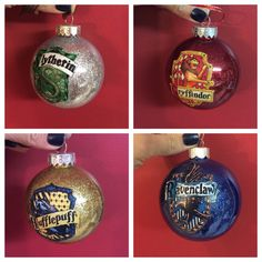 "These house crest ornaments: | Community Post: 19 Magical Gifts For People Who Love ""Harry Potter"""