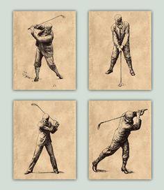 Arte decoración de Golf Golf cartel golf Retro 4 por DigitalArtLand