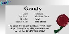 WTC Goudy font download